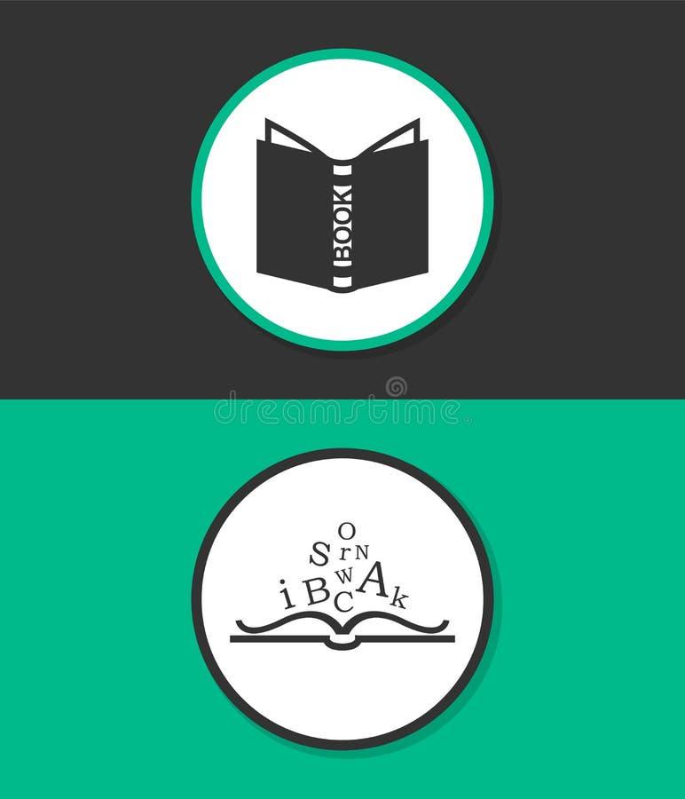 Abra o ícone do vetor do livro ilustração royalty free