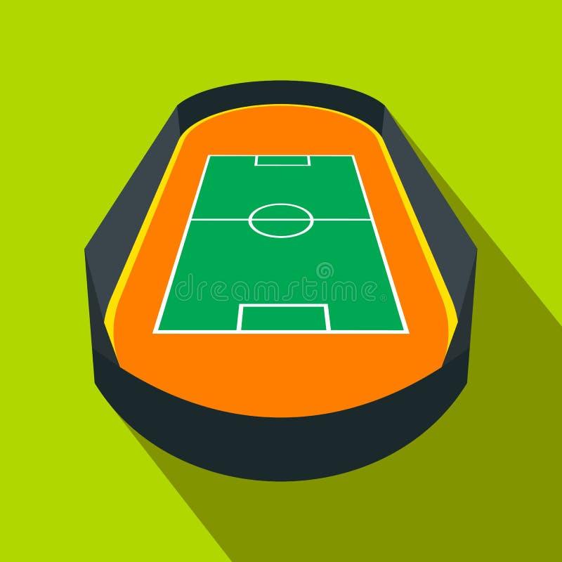 Abra o ícone liso do campo de futebol ilustração royalty free