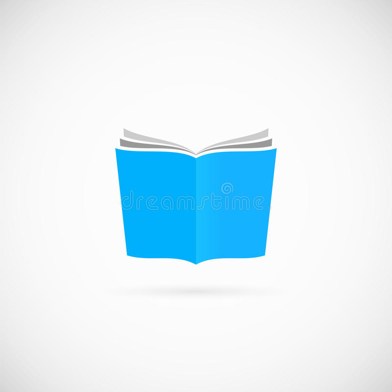 Abra o ícone ou o Logo Template do símbolo do vetor do livro ilustração royalty free
