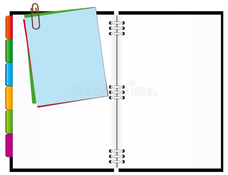Abra o bloco de notas ilustração do vetor