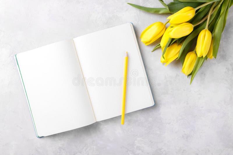 Abra o bloco de notas vazio imagens de stock royalty free