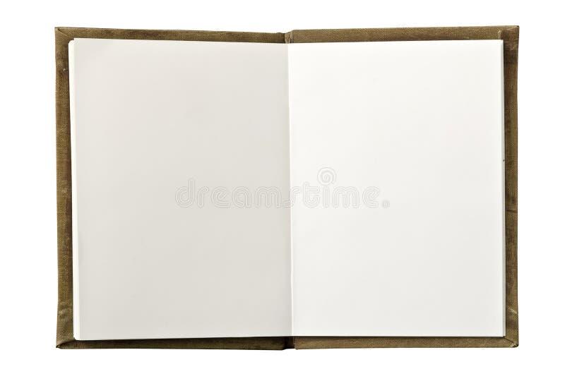 Abra o caderno em branco fotografia de stock