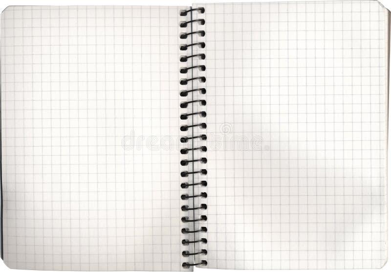 Abra o caderno vazio imagem de stock