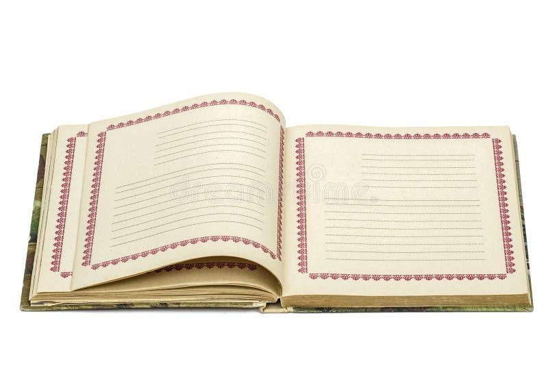 Download Abra O Caderno Velho, Isolado No Fundo Branco Foto de Stock - Imagem de letra, folha: 65575572