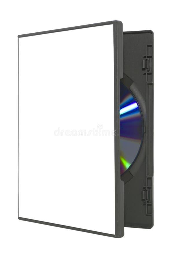 Abra o caso de DVD no branco com trajeto de grampeamento