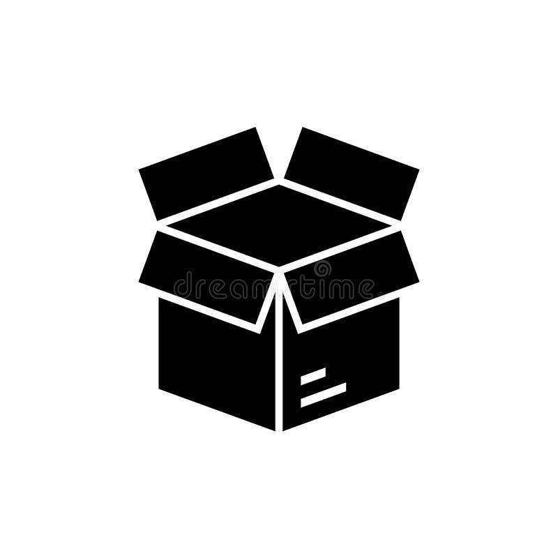 Abra o ?cone da caixa ilustração stock