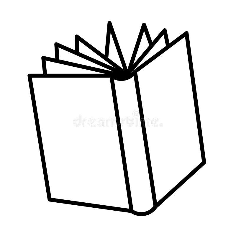 Abra o desenho do livro ilustração royalty free