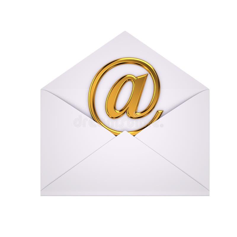 Abra o email imagens de stock royalty free