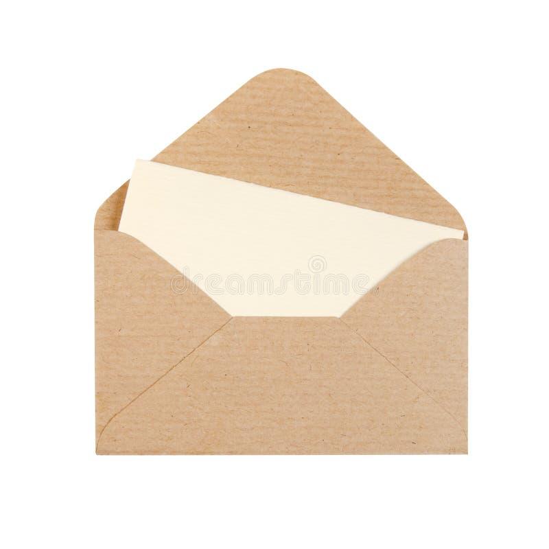 Abra o envelope imagem de stock