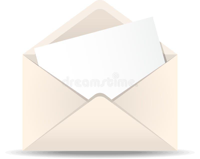 Abra o envelope ilustração do vetor