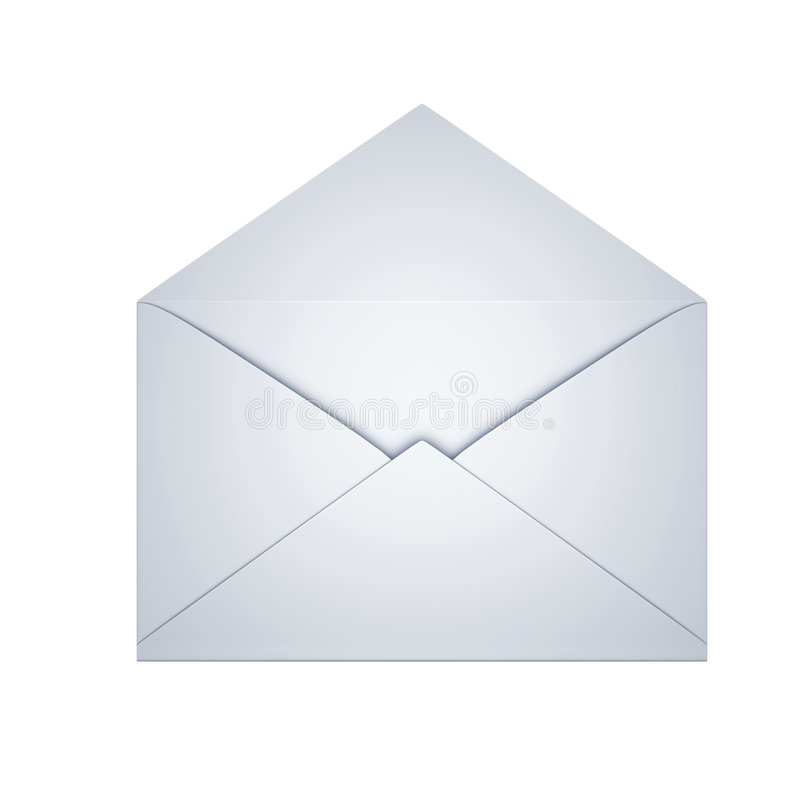 Abra o envelope ilustração royalty free