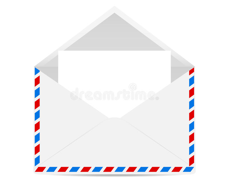 Abra o envelope com formulários vazios ilustração stock