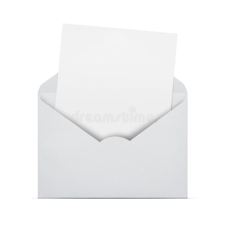 Letra vazia em um envelope foto de stock