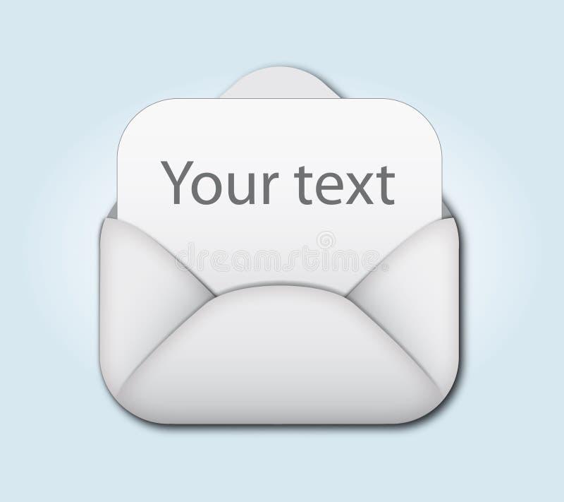 Abra o envelope e anule a letra ilustração stock