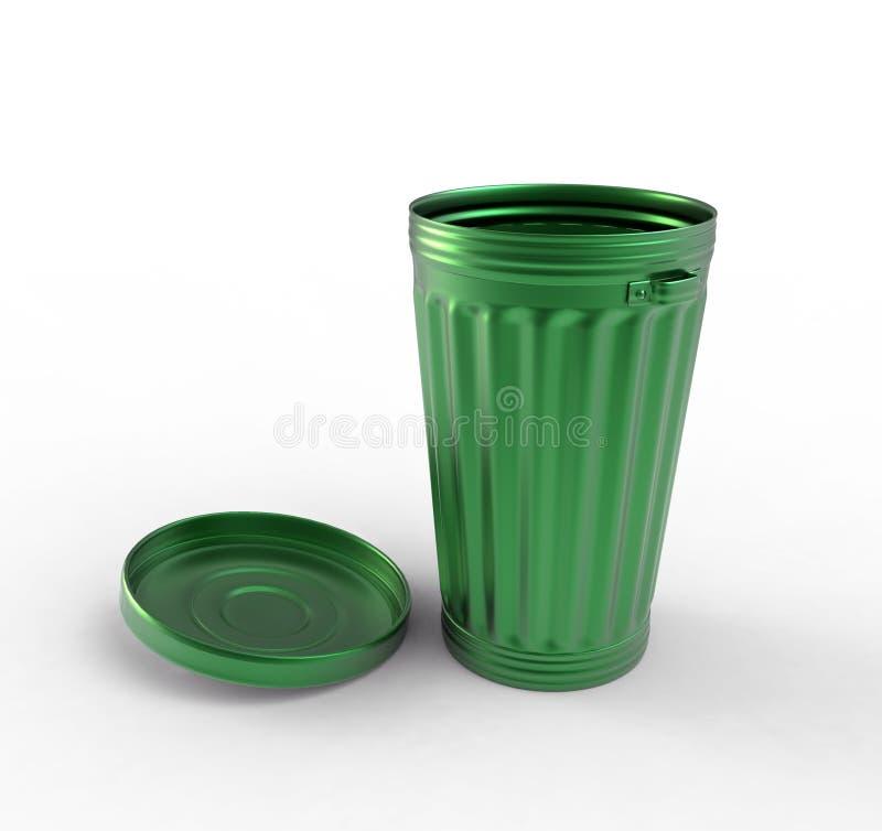 Abra o escaninho verde ilustração royalty free