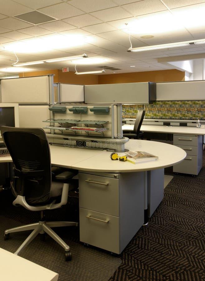 Abra o espaço de trabalho cúbico do escritório foto de stock royalty free