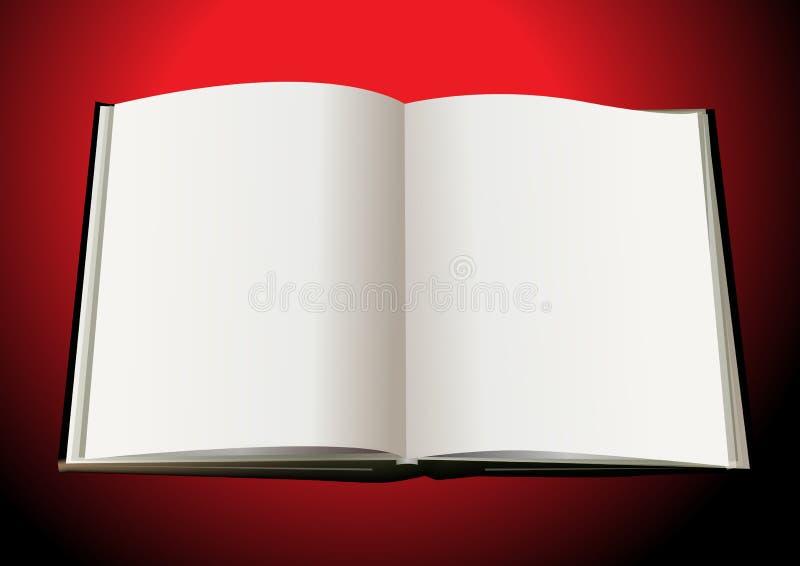 Abra o livro ilustração royalty free