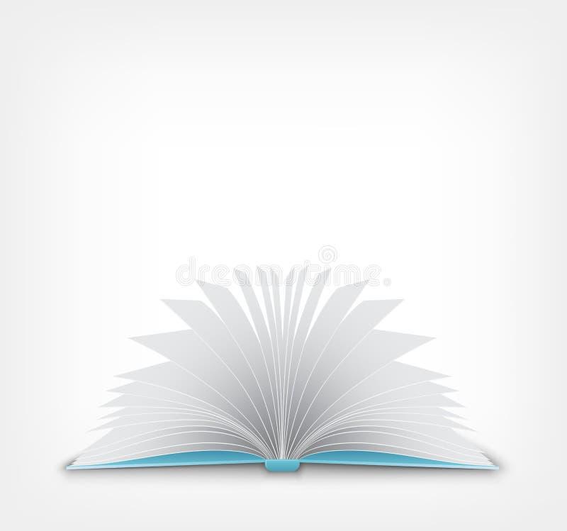 Abra o livro. ilustração stock
