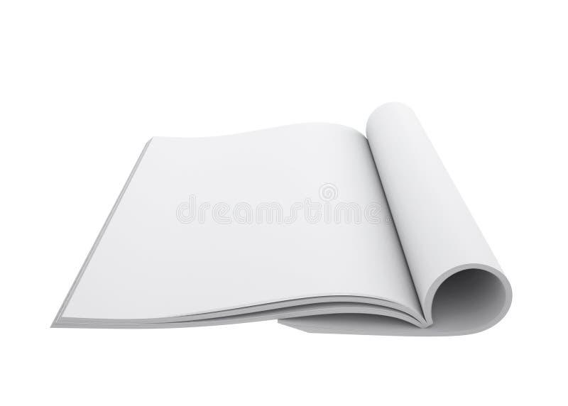 Abra o livro branco ilustração do vetor