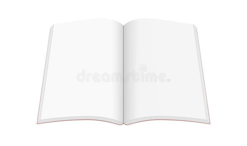 Abra o livro com as páginas isoladas no fundo branco, 3 do Livro Branco ilustração do vetor