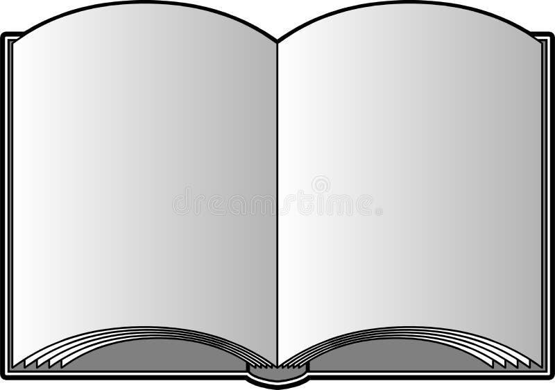 Abra o livro com páginas em branco ilustração stock
