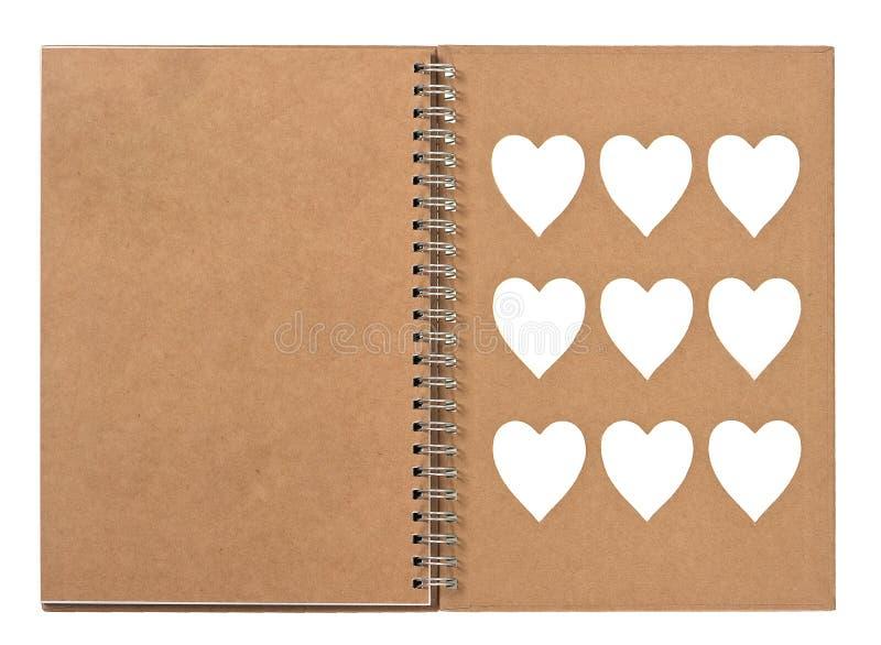 Abra o livro de nota com pasta de anel imagem de stock