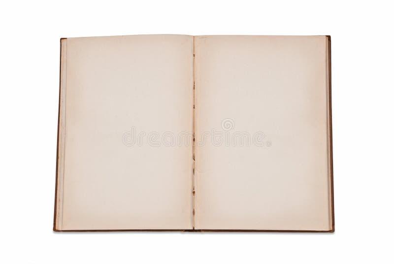 Abra o livro em branco fotos de stock royalty free