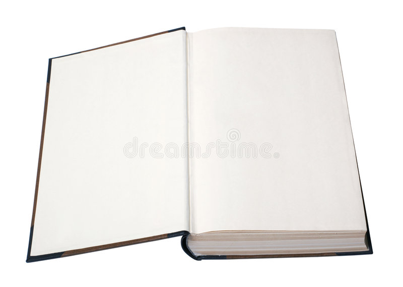 Abra o livro em branco com trajeto foto de stock