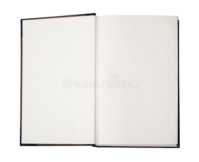 Abra o livro em branco com trajeto fotografia de stock