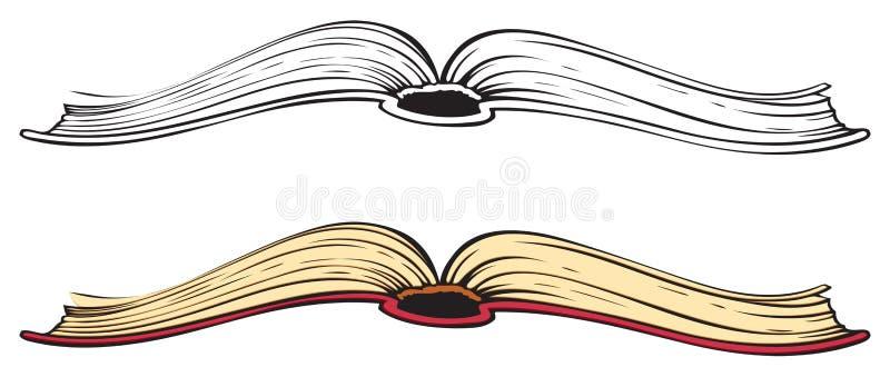 Abra o livro Esboço do vetor ilustração stock