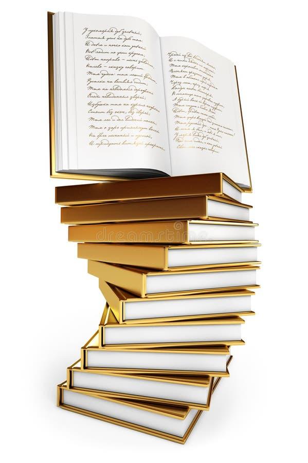 Abra o livro. Livro dos poemas ilustração stock