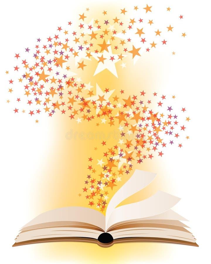 Abra o livro mágico ilustração stock