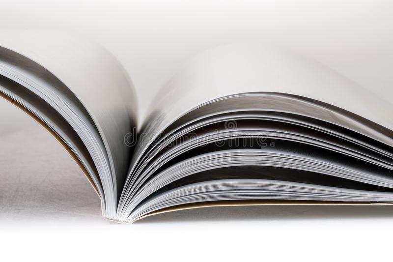 Abra o livro ou o compartimento imagens de stock