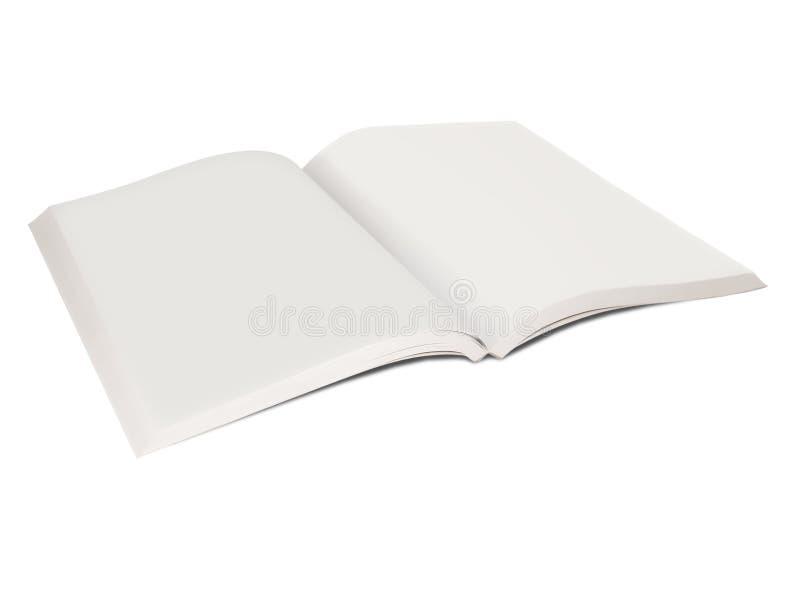 Abra o livro vazio foto de stock