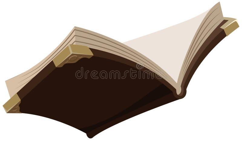 Abra o livro velho mágico ilustração do vetor