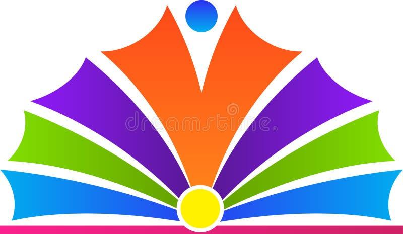 Abra o logotipo do livro ilustração royalty free