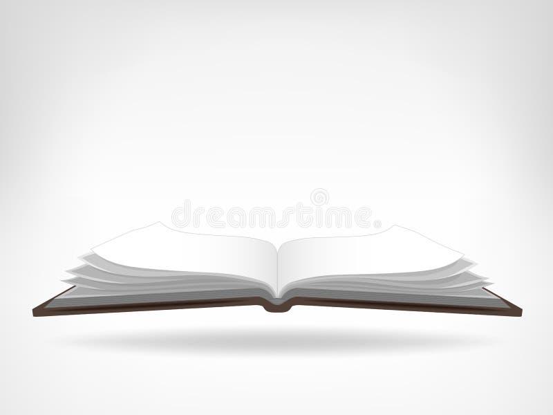 Abra o objeto isolado da opinião lateral do manual de instruções ilustração royalty free