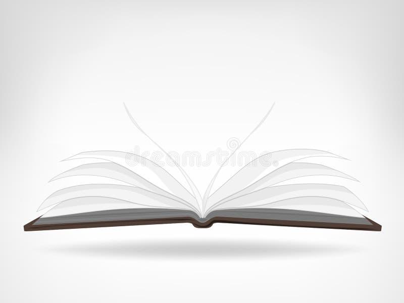 Abra o objeto isolado vazio da opinião lateral do livro ilustração stock