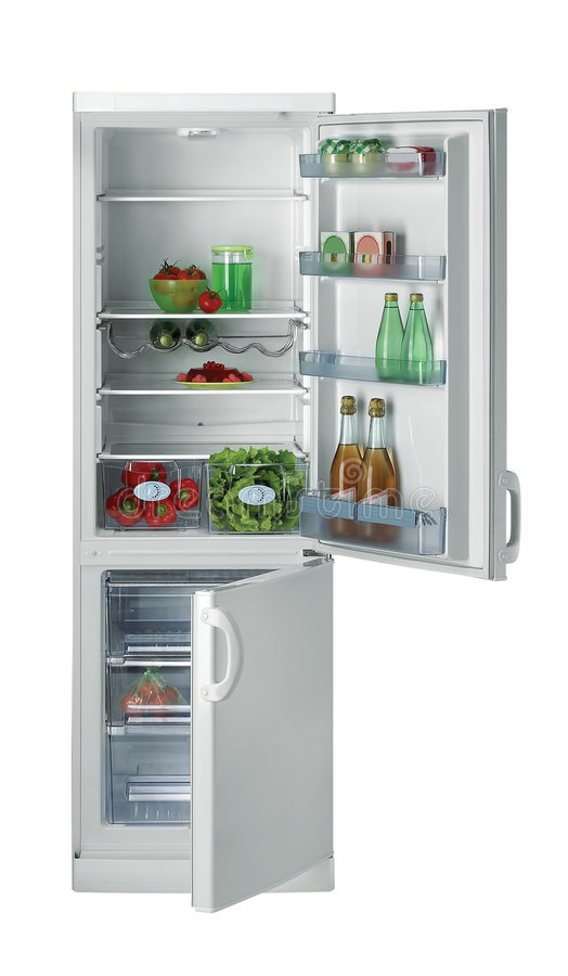 Abra o refrigerador foto de stock royalty free