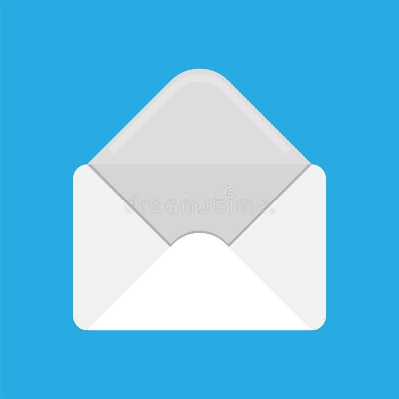 Abra o RH dos envelopes Carta aberta Ilustração de papel do vetor do correio ilustração do vetor
