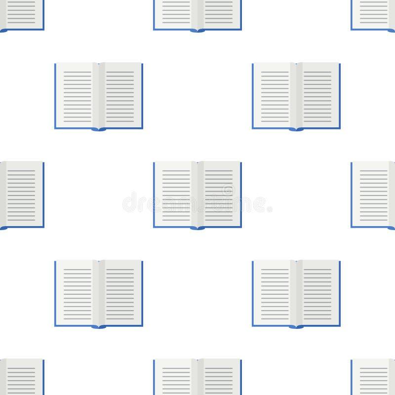 Abra o teste padrão sem emenda do ícone do livro de escola ilustração do vetor