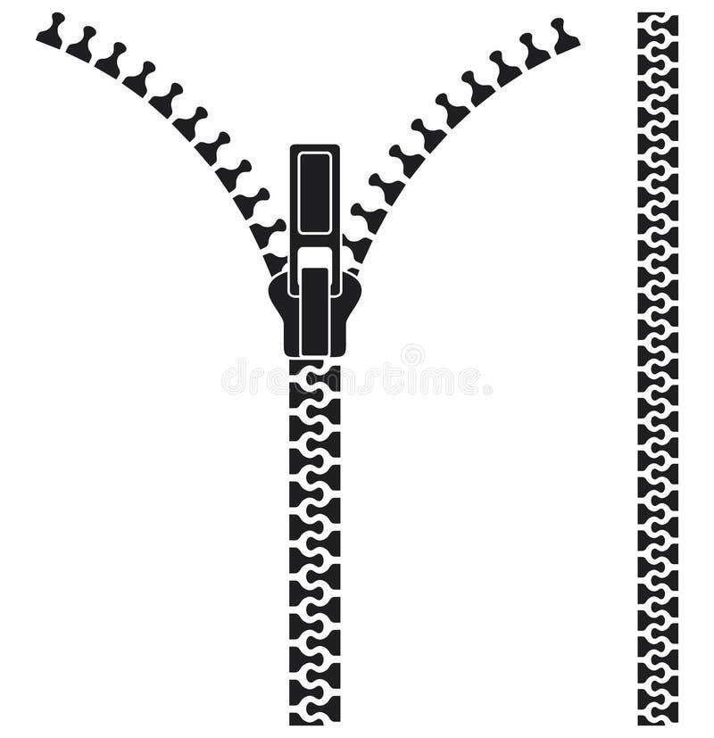 Abra o zipper ilustração do vetor