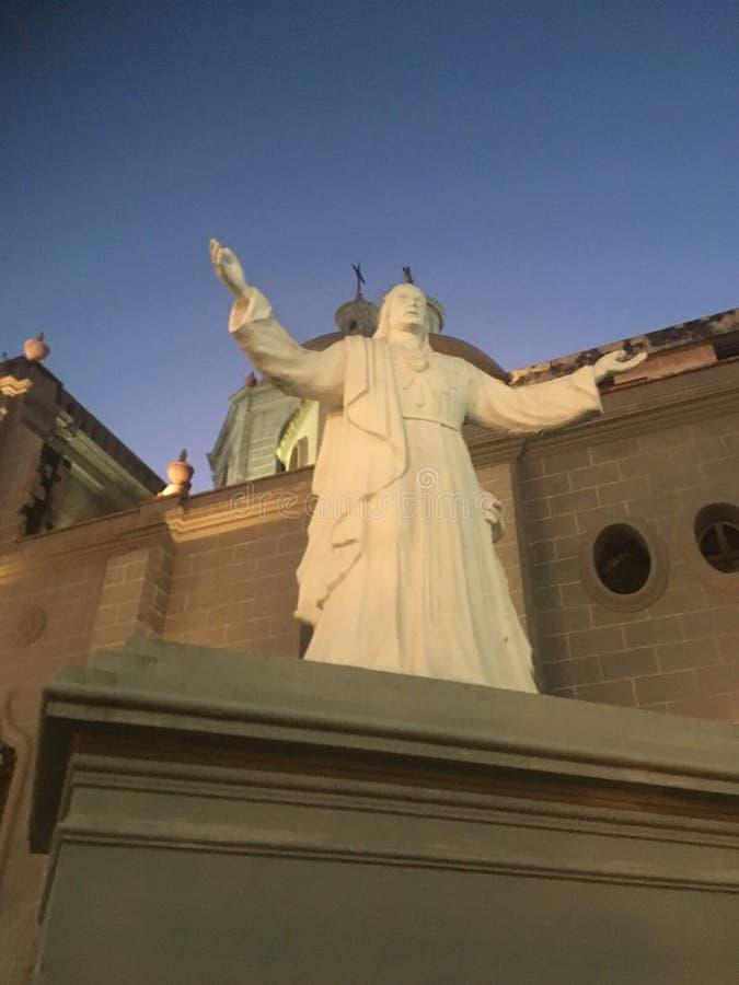 Abra os braços, Saint de Mazatlan imagens de stock