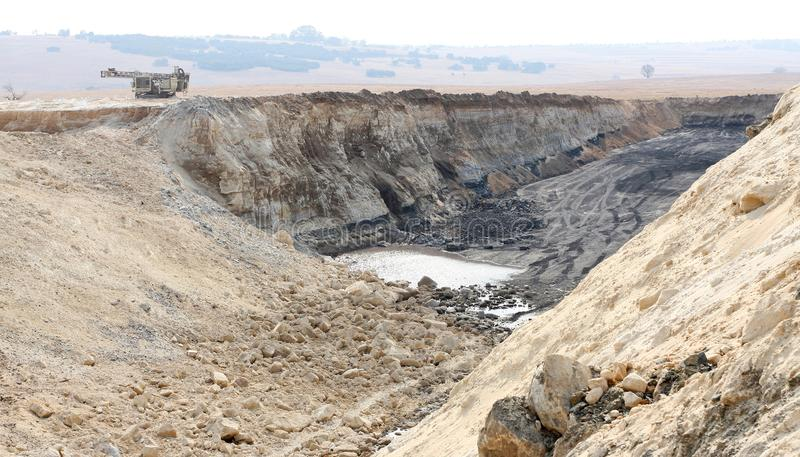 Abra Pit Coal Mining em África do Sul imagem de stock