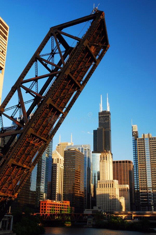 Abra a ponte em Chicago fotografia de stock royalty free