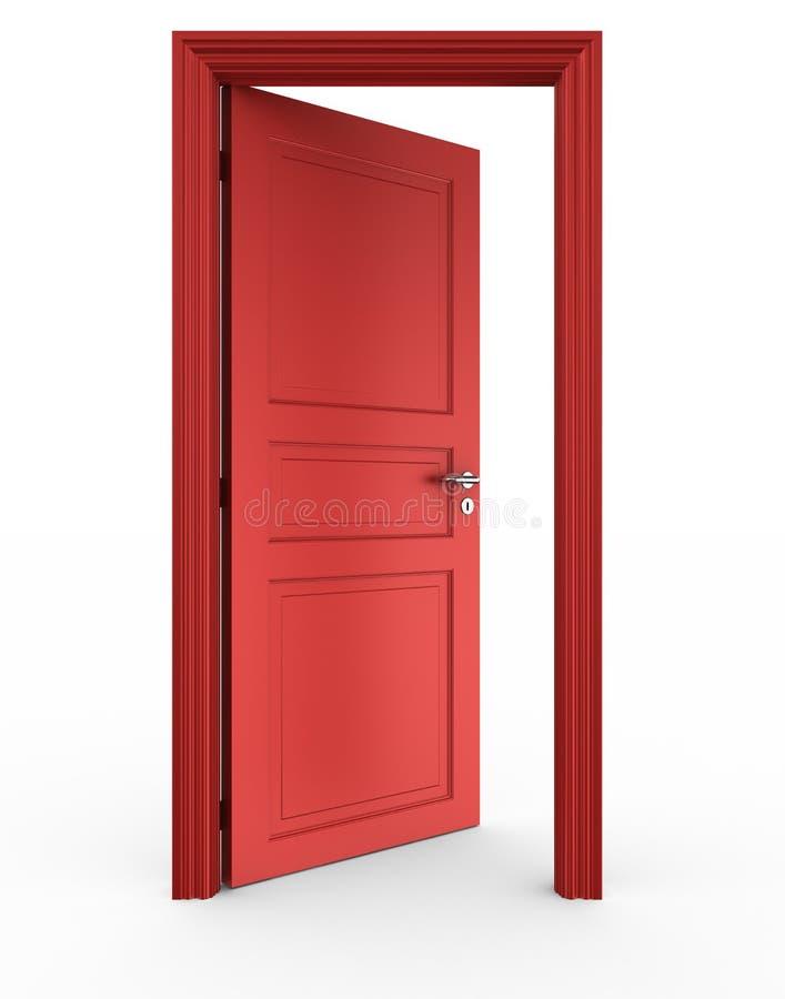 Abra a porta vermelha ilustração royalty free