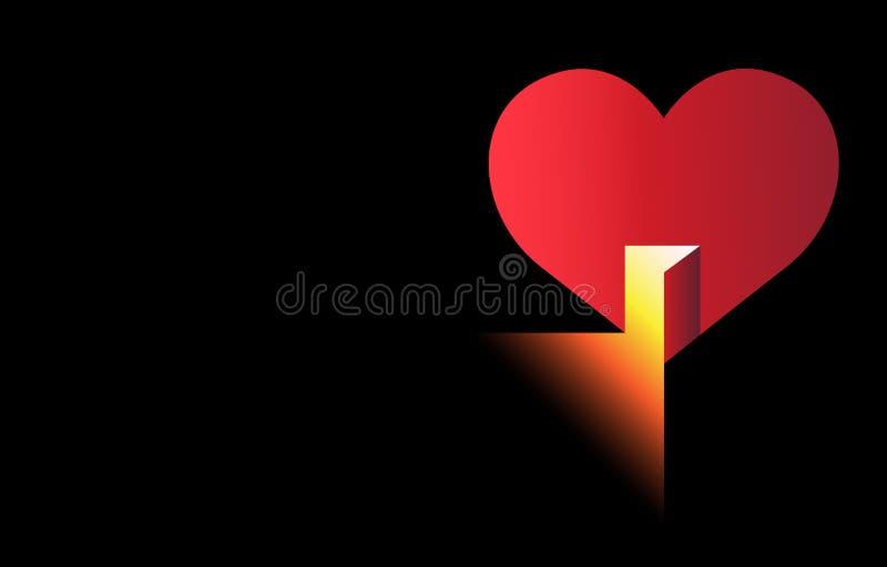 Abra seu coração ilustração royalty free