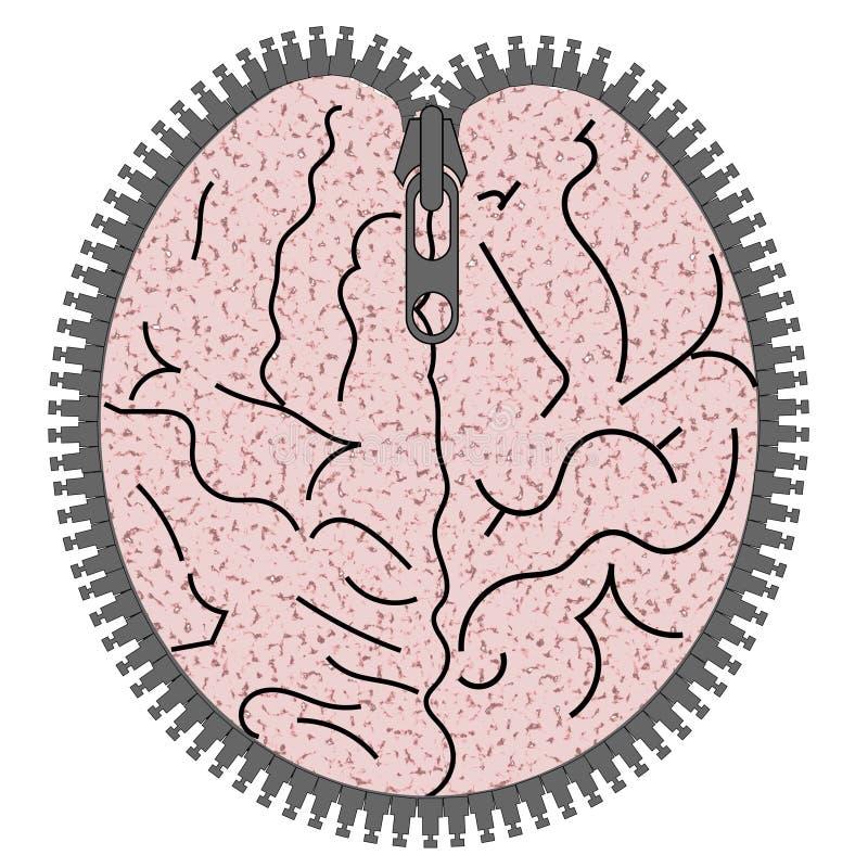 Abra su mente ilustración del vector