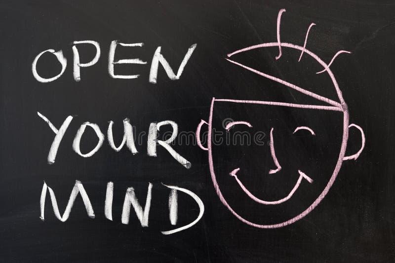 Abra su mente fotos de archivo libres de regalías