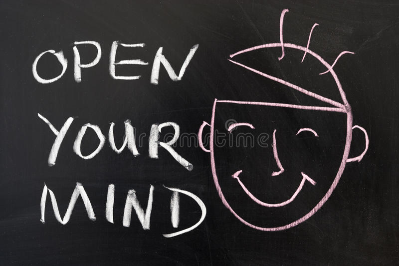 Abra sua mente fotos de stock royalty free